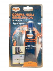 Gomma nera semiliquida 60ml - riparazione cerniere