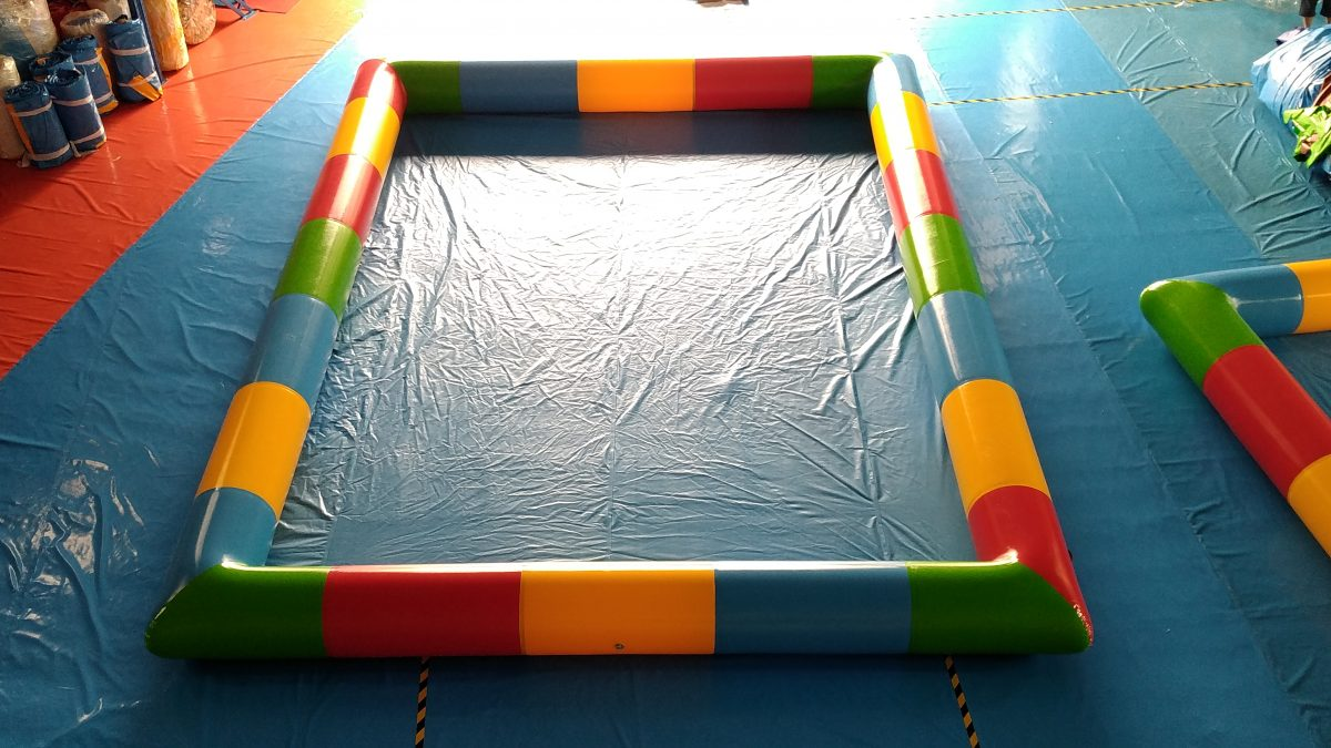 Inflatable pool 9x10x0,65m multicolor